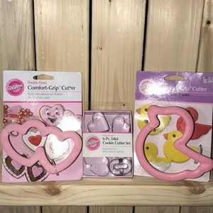 New -set of three Wilton cookie cutter sets